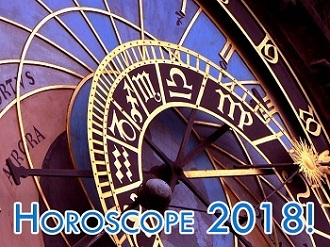2018, horoscope, zodiac, space