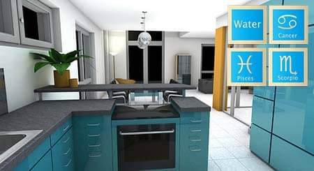 Read This Article, And Youu0027ll Find Out What Interior Design Is The Best For  Water Zodiac Sign. For Example, Denim, Sea Greens, Blues, Emerald Are The  Right ...